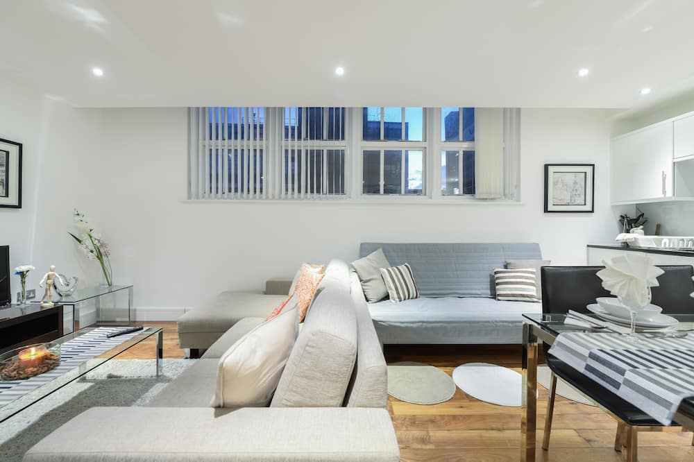 City Apartment, 1 Bedroom, Accessible, City View - Living Room