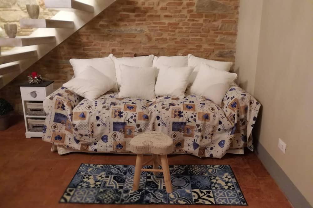 Deluxe Apart Daire, 2 Yatak Odası, Tepe Manzaralı - Oturma Alanı