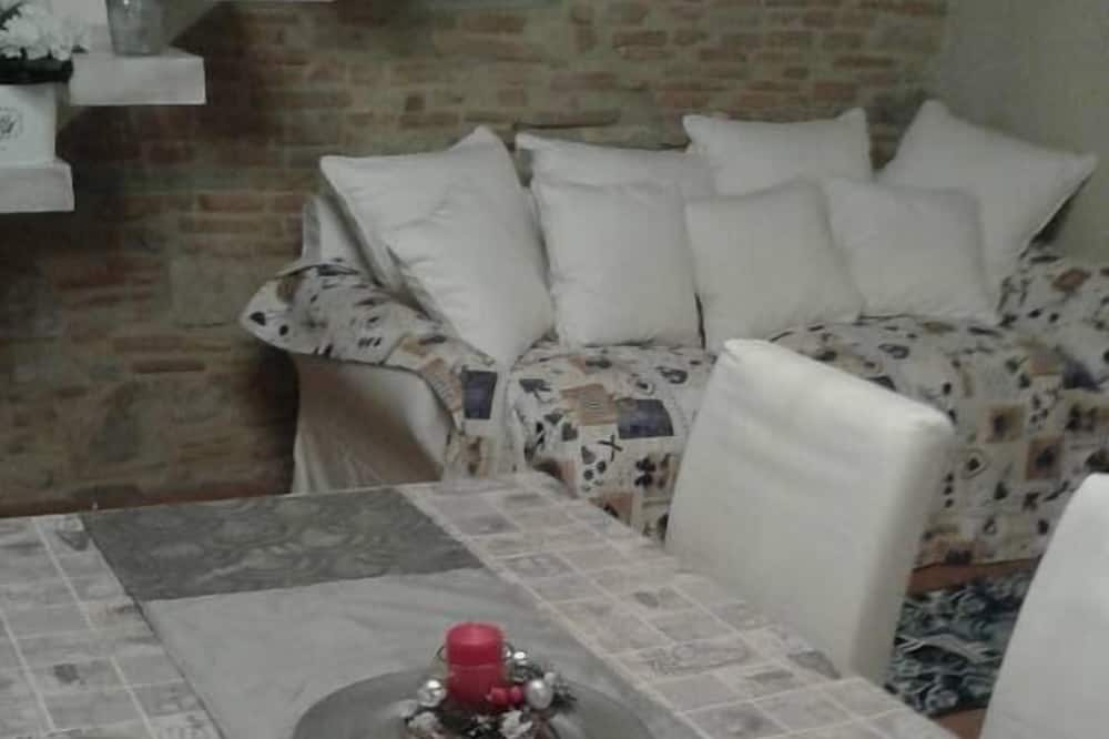Deluxe Apart Daire, 2 Yatak Odası, Tepe Manzaralı - Oturma Odası