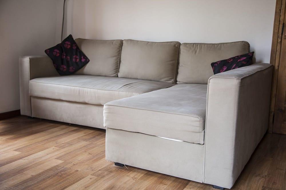 Lejlighed - 1 soveværelse - terrasse - byudsigt - Stue