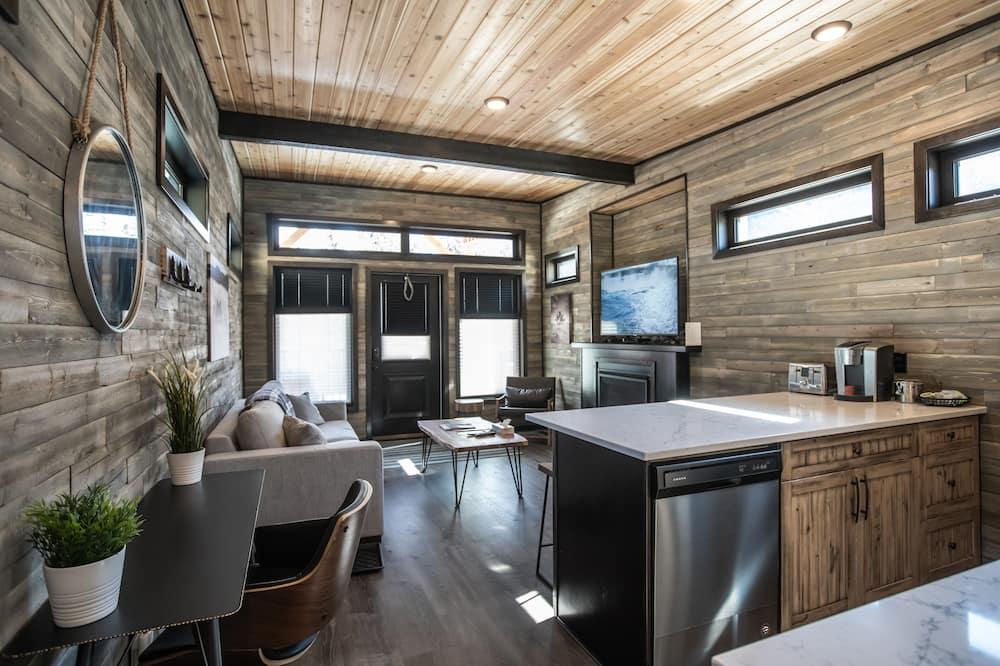 Hytte – premium, 1 soverom, kjøkken, utsikt mot fjell - Rom