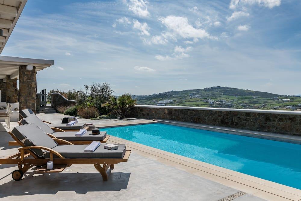 Villa Luxe, 3 chambres, piscine privée - Chambre