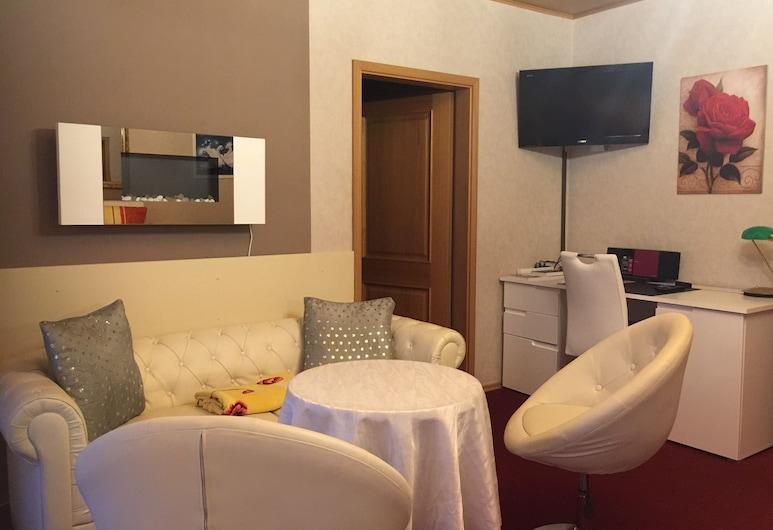 Gästehaus Monika, Hornbach, Lejlighed - køkken, Opholdsområde