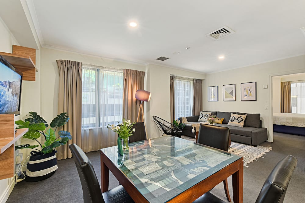 Superior Apartment, 1 King Bed with Sofa bed, Kitchen - Living Area