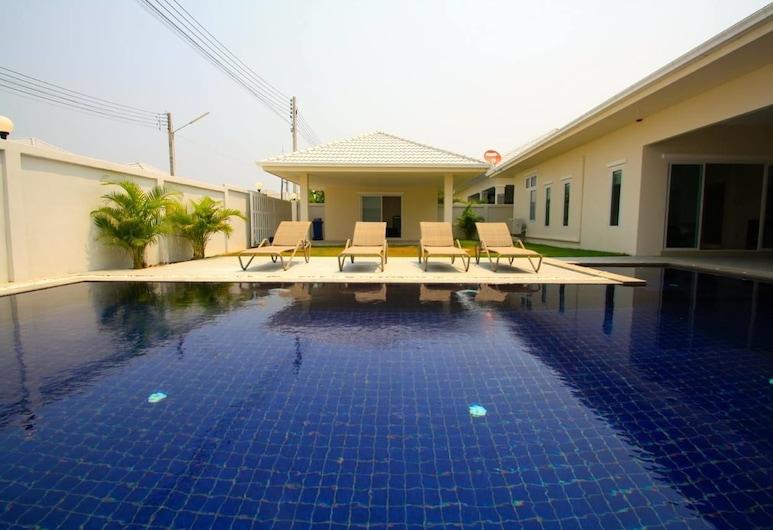 華欣熱帶營泳池別墅酒店 G 12, Hua Hin,  4-Bedroom Pool Villa, 陽台