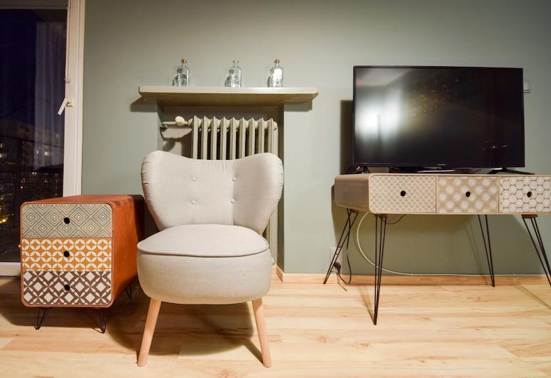 ShortStayPoland Srebrna (B36), Βαρσοβία, Classic Διαμέρισμα, 1 Υπνοδωμάτιο, Μπαλκόνι, Περιοχή καθιστικού