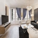 Departamento, 4 habitaciones, balcón, vista a la ciudad - Sala de estar