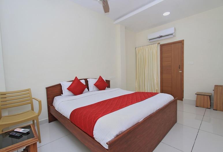 OYO 10777 Home Compact 2BHK Goubert Market, Pondicherry, Habitación con 1 cama doble o 2 individuales, Habitación