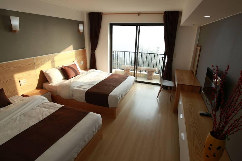 豪華雙人房, 1 張特大雙人床, 山景 - 客房