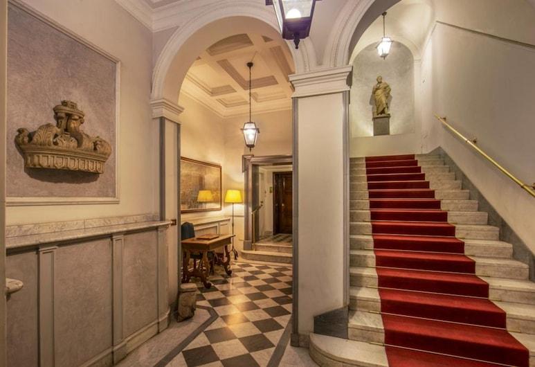 Borgognona Rooms, רומא, מבט לכניסה מבפנים