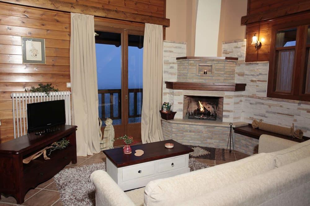 Apartmán, krb, mezanín (Panoramic Mountain View) - Obývacie priestory
