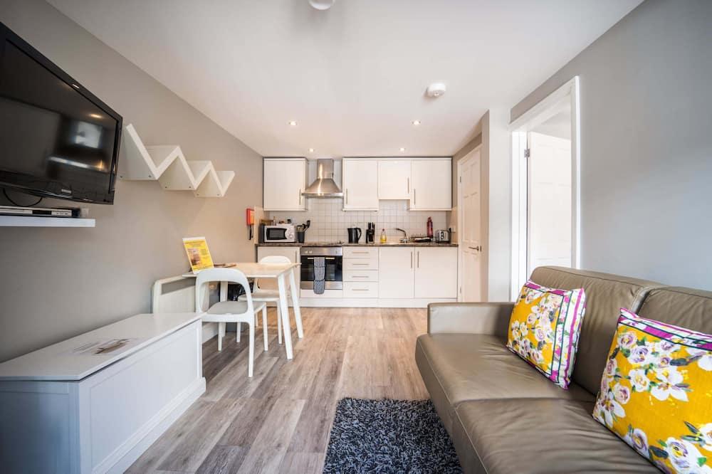 Klasisks dzīvokļnumurs, 1 divguļamā gulta un dīvāngulta, virtuve (Apartment 34) - Dzīvojamā zona