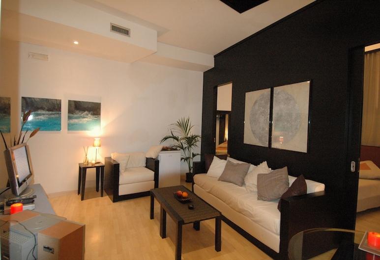 伊索拉住宅酒店, 那不勒斯, 公寓, 1 間臥室 (Santa Chiara), 客廳