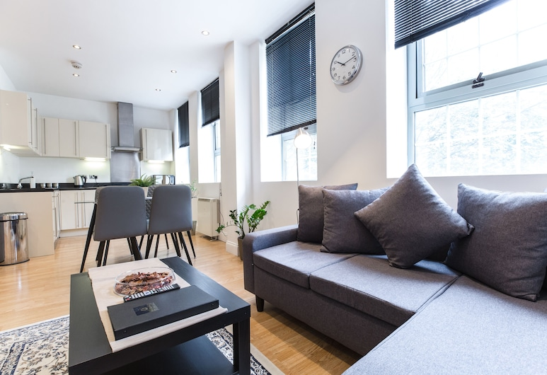 Stay Inn Apartments Aldgate, London, Külaliskorter, 2 magamistoaga, Elutuba