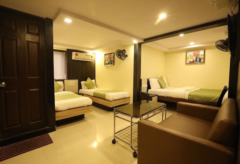 Hotel Happyland, Bombay, Luxury Dört Kişilik Oda, Oda