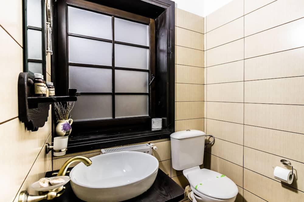 Comfort-Doppelzimmer, 2Einzelbetten, Bergblick - Badezimmer