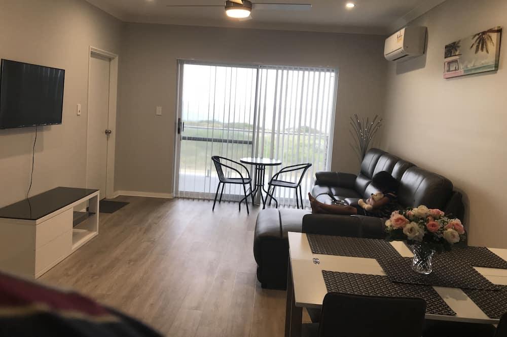 Panoramic Apartment, Balcony, Ocean View - Living Area