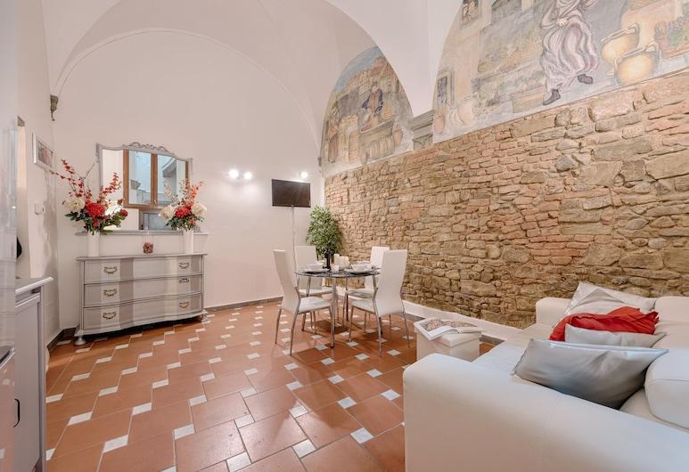 Santo Spirito Frescos, Florence, Maison Confort, 3 chambres, Coin séjour