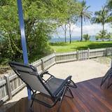 Maison Supérieure, 4 chambres, accès piscine, en front de plage - Terrasse/Patio