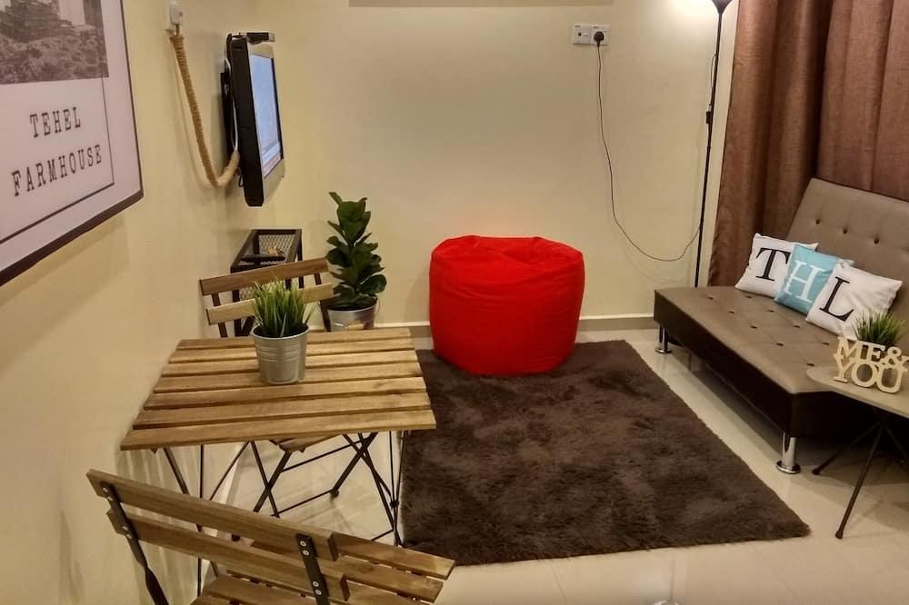 Superior-Bungalow, 1 Schlafzimmer, Gartenblick, zum Garten hin - Wohnbereich