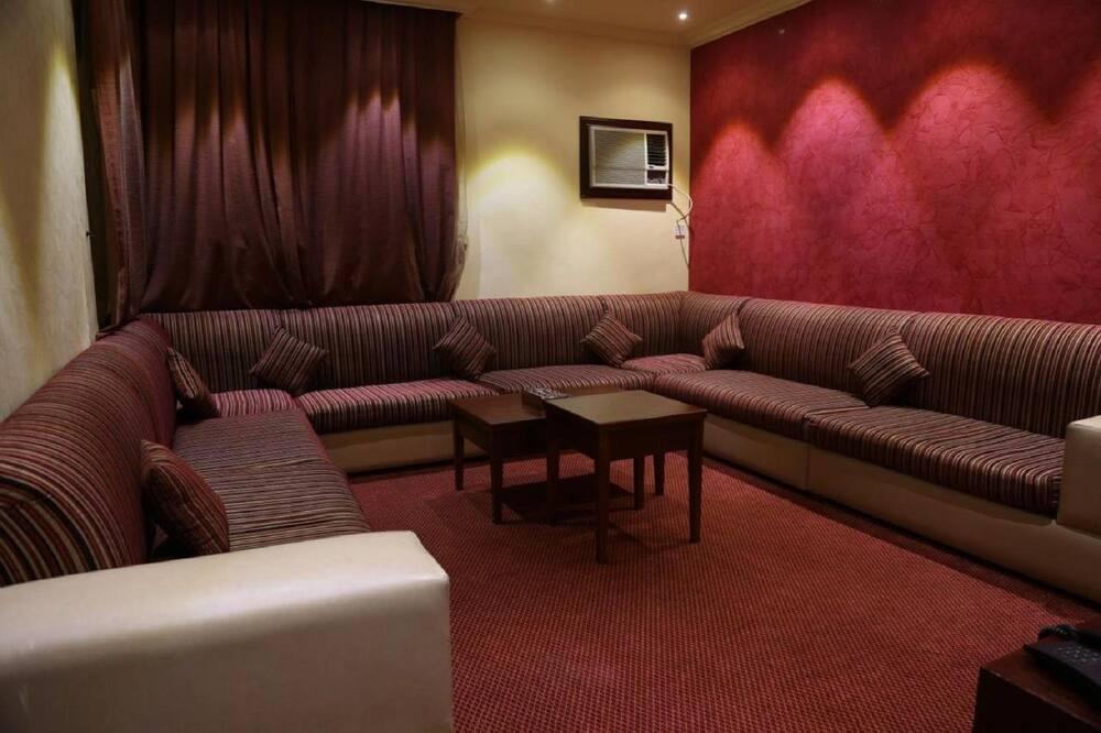 Deluxe-lejlighed - 2 soveværelser - balkon - Stue