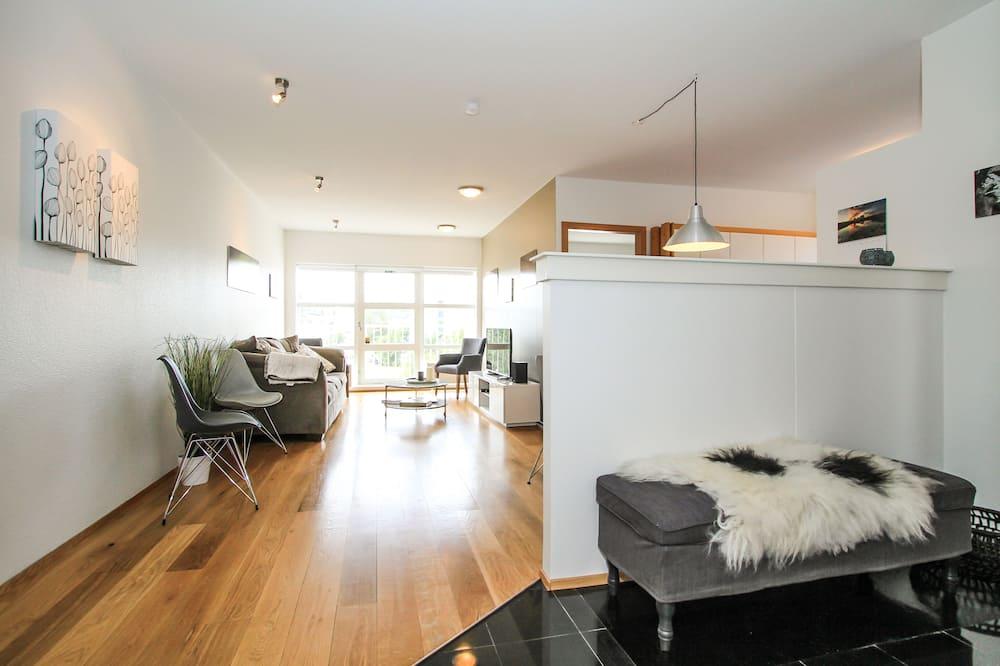Comfort-íbúð - 2 svefnherbergi - svalir - Stofa