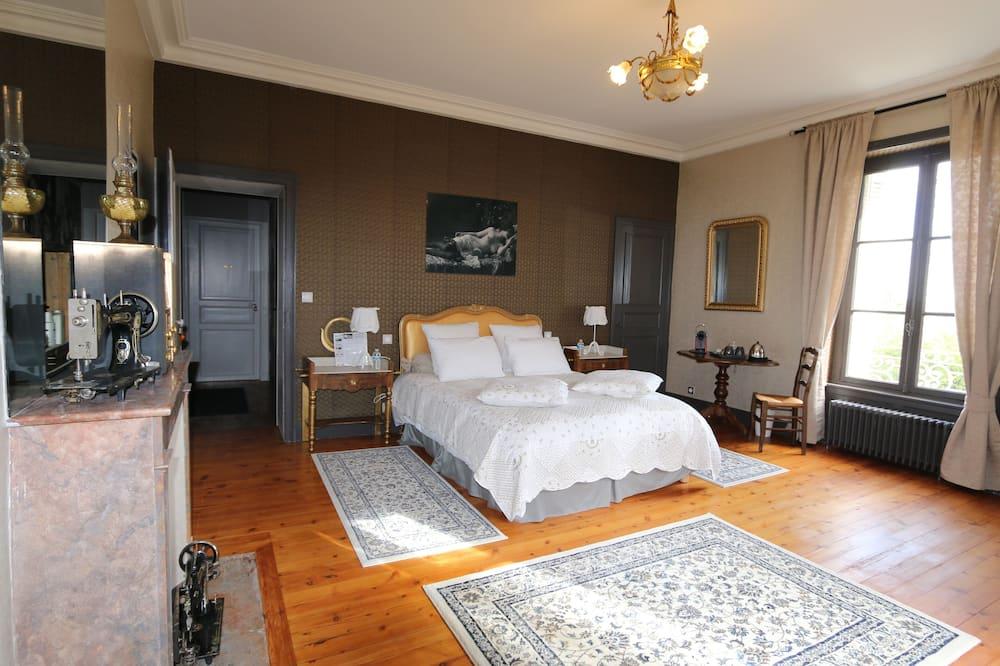 Habitación doble de lujo, baño privado, vista al parque (CHAMBRE NUMERO 5) - Habitación