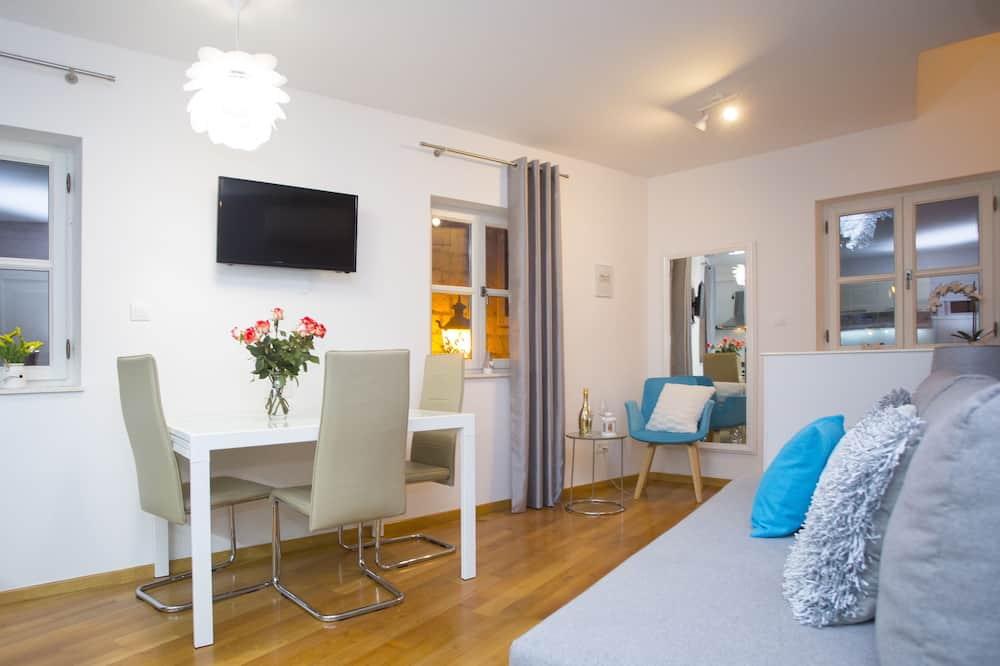 Appartement Deluxe, 1 chambre, vue mer - Salle de séjour