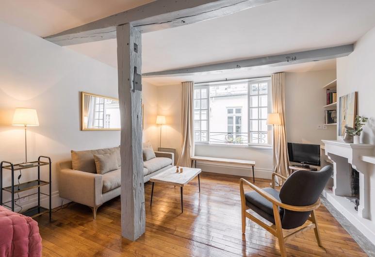 Ile Saint Louis Apartment, Παρίσι, City Διαμέρισμα, 1 Queen Κρεβάτι, Κουζίνα, Περιοχή καθιστικού