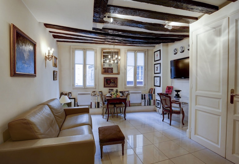 Louvre - Palais Royal Area Apartment, Paryż, Apartament typu City, 1 sypialnia, aneks kuchenny, Powierzchnia mieszkalna