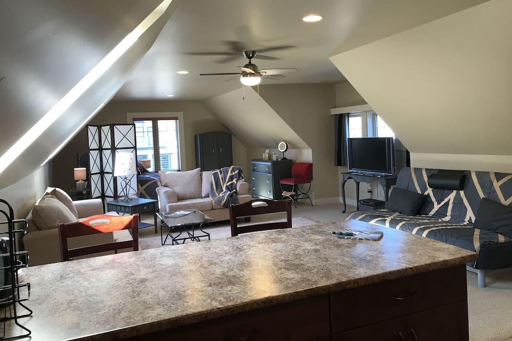 Suite estudio Elite, Varias camas, cocina básica - Sala de estar