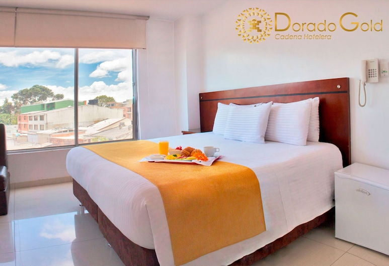 Hotel Dorado Gold Bogota, Bogotá, Hefðbundin svíta - 1 stórt tvíbreitt rúm - Reyklaust - með baði, Herbergi