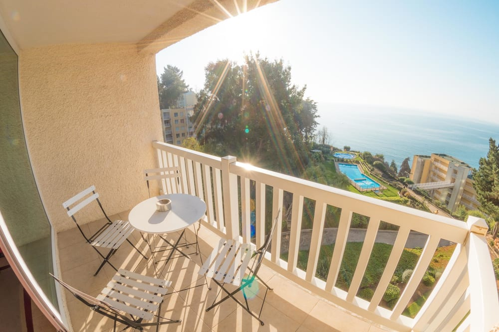Apartamento Panorâmico, 1 Quarto, Vista Oceano - Varanda