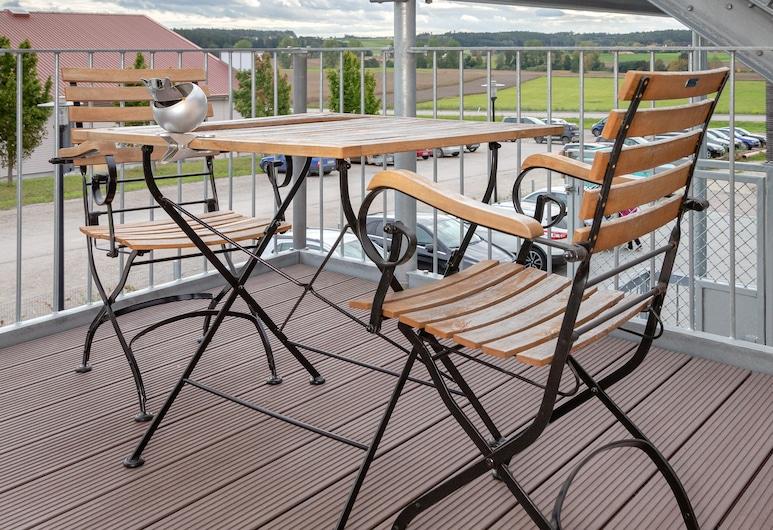Hotel SCHLAFZIMMER, Dinkelsbuhl, Terasa/trijem