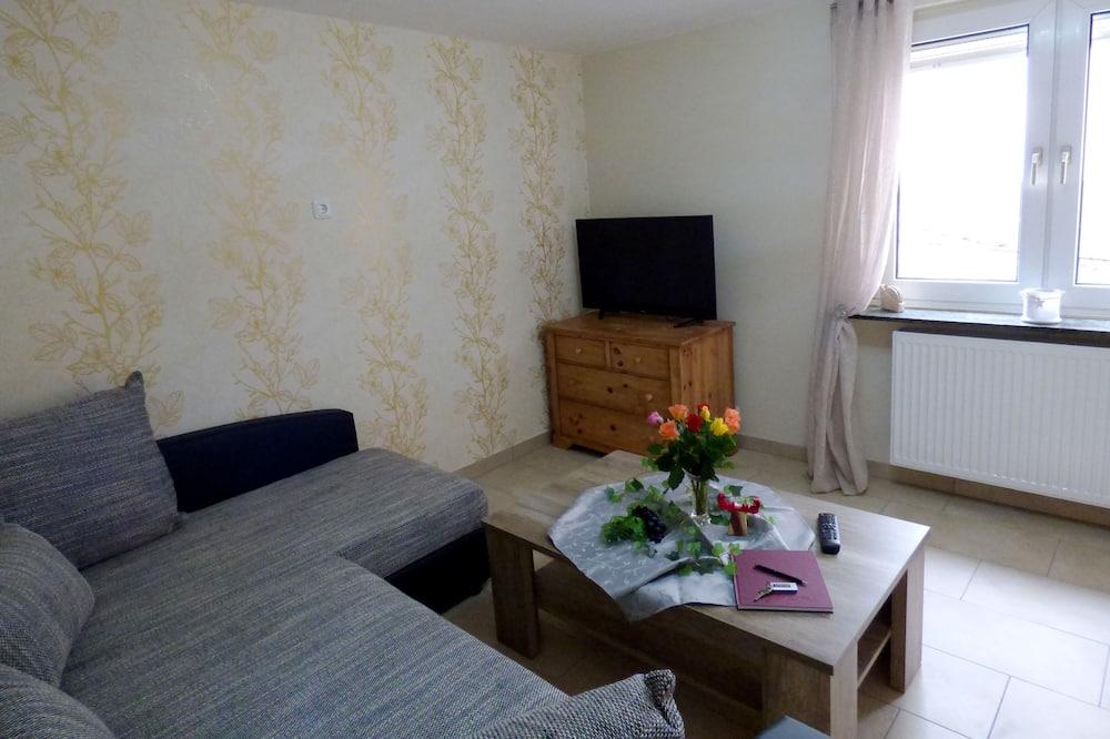 شقة فاخرة - غرفة نوم واحدة - غرفة معيشة