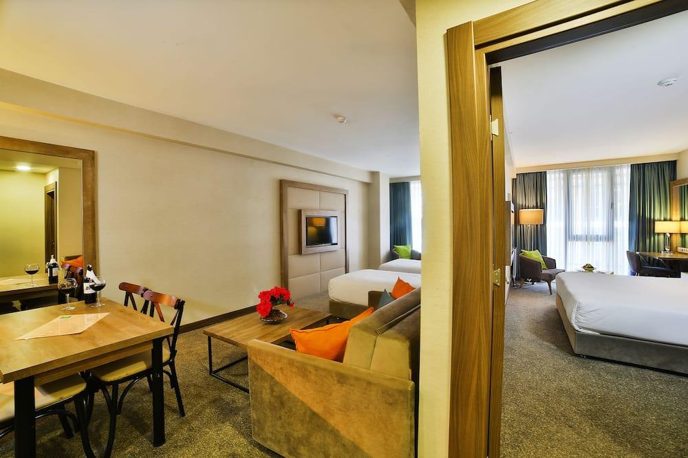 Rodinný apartmán, 2 dvojlôžka - Obývacie priestory