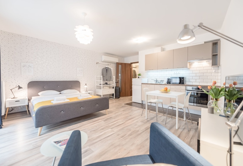 Oasis Apartments at Broadway Residence, Budapešť, Štúdio typu Deluxe, Obývacie priestory