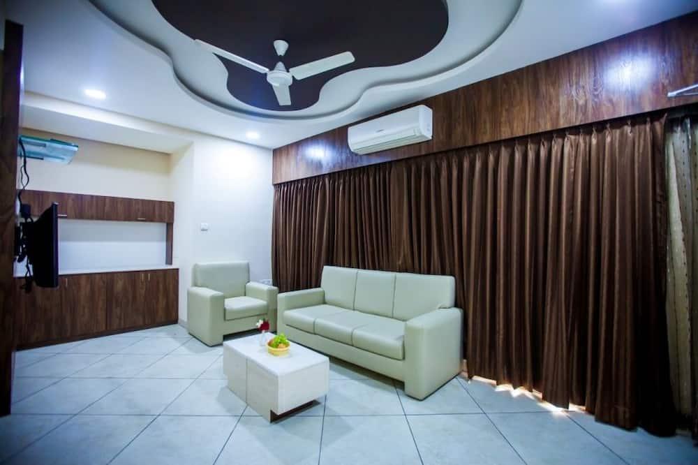 豪華開放式套房, 1 張特大雙人床 - 客廳