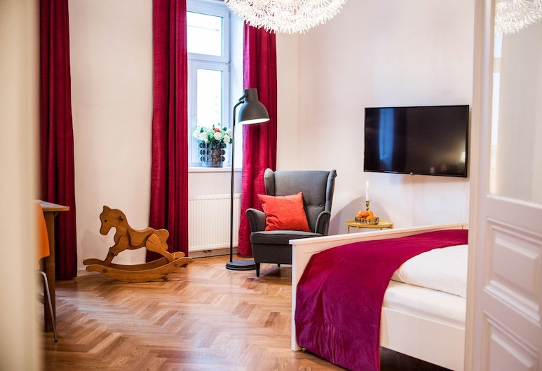 Leuhusen Orange Apartment, Wenen, Superior appartement, 2 slaapkamers, niet-roken, Uitzicht op de stad, Interieur