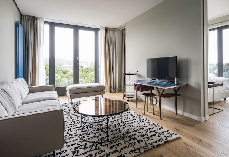 FREIgeist Göttingen - A Member of Design Hotels™, Goettingen, Suite (FREIblick), Living Area