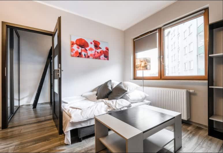 P&O Apartments Gocław, Warszawa, Svit Standard - 1 queensize-säng med bäddsoffa, Vardagsrum