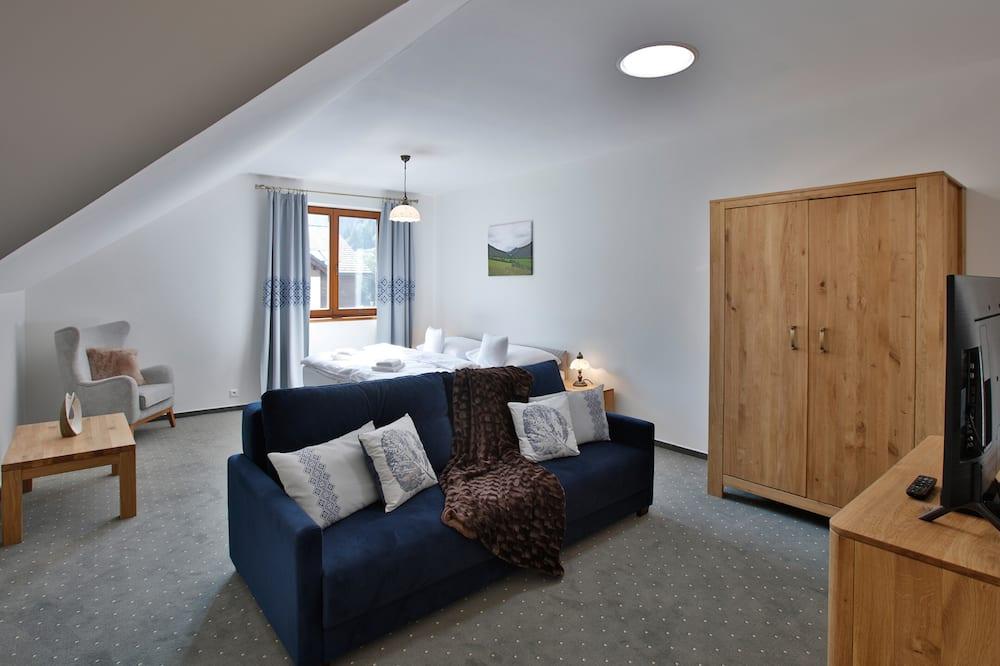 Deluxe apartman, 2 hálószobával (Ceder) - Nappali rész