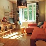 Comfort-Ferienhaus, 1 Schlafzimmer, Küche, Bergseite - Wohnbereich