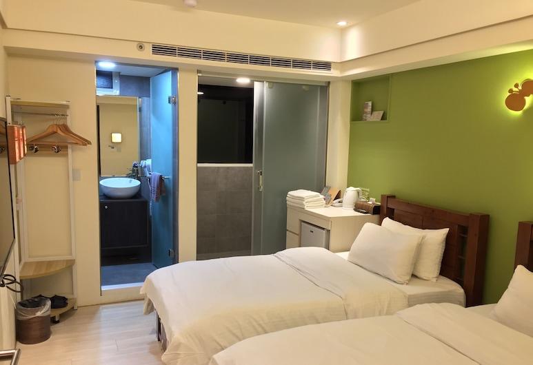 我們有故事旅店, 台中市, 標準雙床房, 2 張單人床, 非吸煙房, 城市景觀, 客房