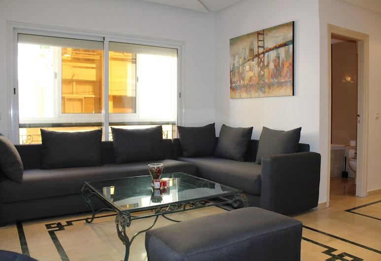 La Perle de Gauthier  by StayInMorocco, Casablanca, Penthouse Exécutif, 1 chambre, coin cuisine, Coin séjour