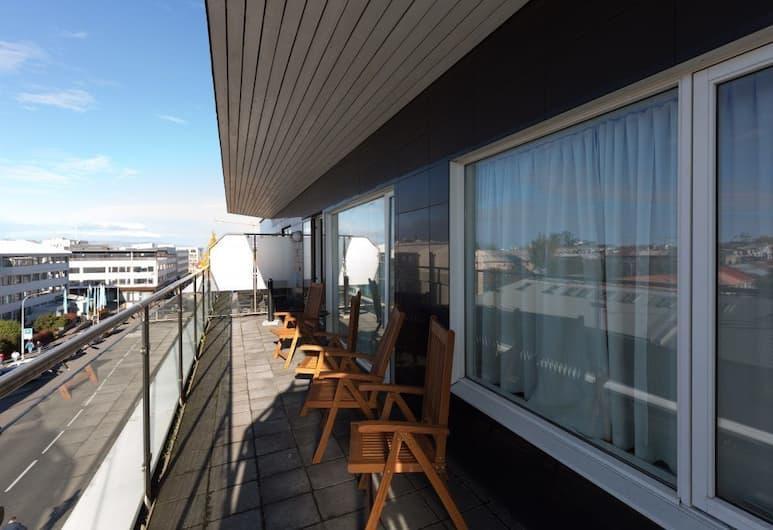 Downtown Reykjavík Apartments, Reykjavík, Þakíbúð - 3 svefnherbergi - borgarsýn, Svalir