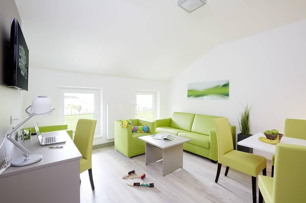 Departamento, varias habitaciones, cocina - Sala de estar