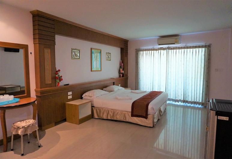 Thanawan Mansion, Nakhon Si Thammarat , Deluxe Double Room with Balcony, Herbergi