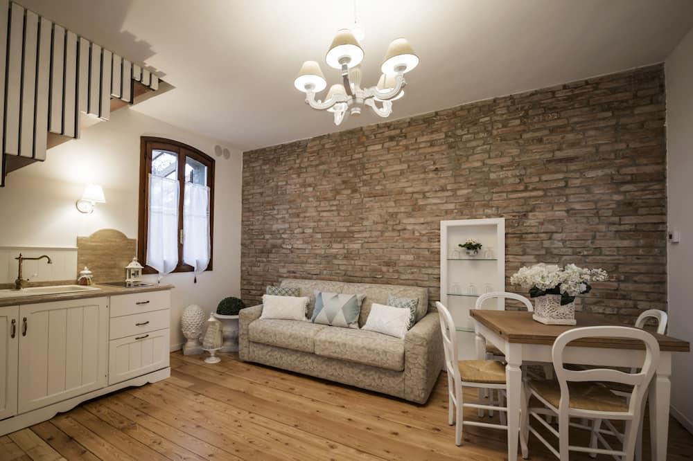 Casa, 1 habitación, patio, vistas al jardín - Sala de estar