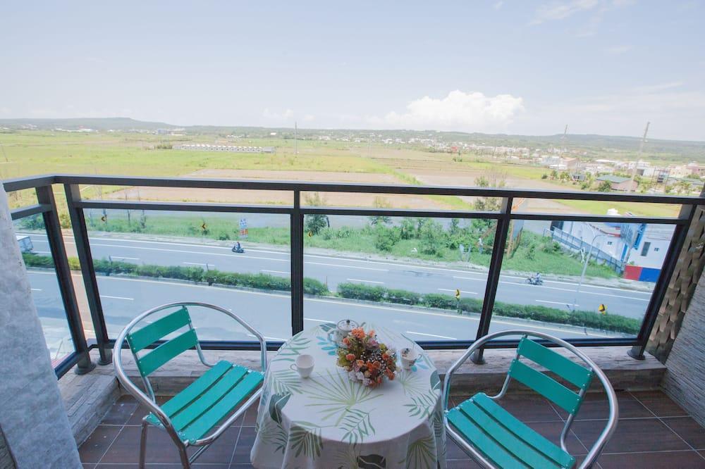 Habitación cuádruple Confort, balcón, vistas a la montaña - Balcón